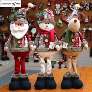 2020 HOT 30 Styles Christmas Decorations Christmas Dolls Christmas Tree Decorations Innovative Elk Santa Snowman Decorations