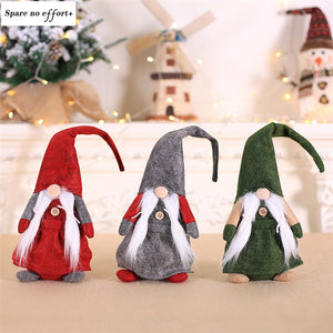 Santa Claus Dolls Christmas Decorations for Home Standing Toy Navidad Figurine Kid Christmas Gifts New Year Xmas Tree Ornament