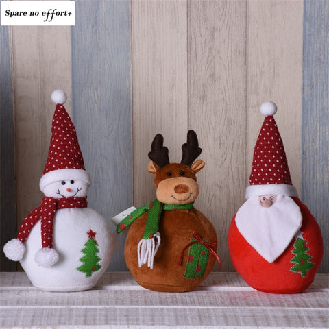 Children Xmas Birthday Gift Christmas Dolls Santa Claus Snowman Elk Figures Toy New Year Christmas Decorations Boze Narodzenie