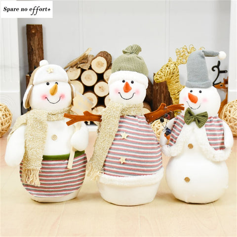 Cute tumbler Christmas Snowman Dolls Navidad Figurine Christmas Decoration natal New Year Gift Regalos De Navidad For Home