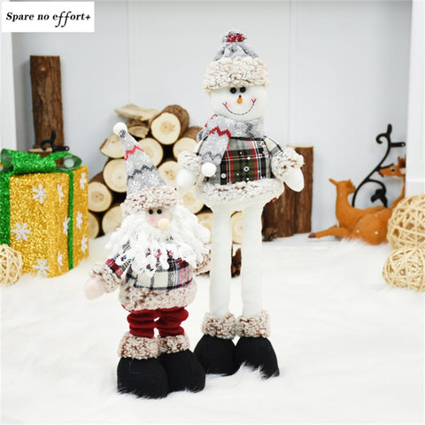 Navidad Figurine Christmas Decorations for Home Christmas Dolls Santa Claus Snowman Kid New New Year Gift Xmas Tree Ornament