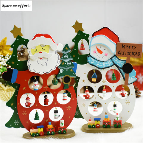 Santa Claus Snowman adornos de navidad Desk decoration christmas tree decorations New Year Wood christmas crafts Merry Christmas