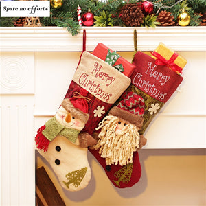 Christmas Gift Holders Santa Claus Snowman Christmas Stockings Candy Gift Bag Christmas Socks Decoration Natal tree decorations