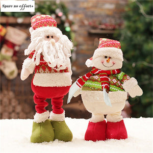 47cm Santa Claus Snowman Christmas Dolls Merry Christmas Christmas Decorations for Home Cartoon adornos de navidad New Year