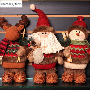 Navidad Figurine Christmas Decorations for Home Santa Claus Snowman Christmas Dolls Merry Christmas New Year Gift For Kid Natal