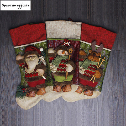 Christmas Gift Bags Santa Claus Snowman Christmas Stockings New Year Gift Holders christmas decorations for home Navidad Boots