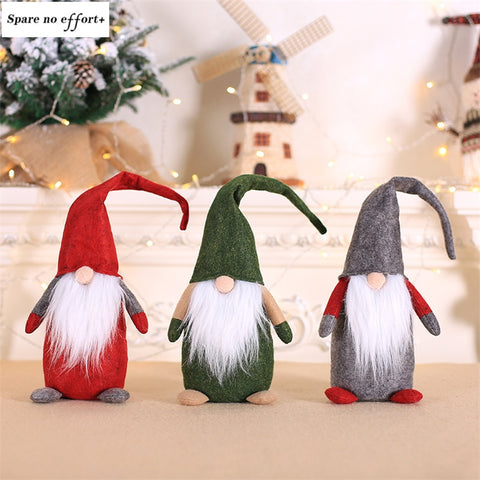 28cm Christmas Doll Xmas Figurines Christmas tree decorations Santa Claus Toy Kids Christmas Gifts New Year Christmas Decoration