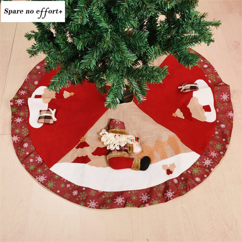 Christmas Tree Skirt Round Carpet Christmas Decorations for Home Floor Mat New Year 2020 Xmas Tree Skirts pie de arbol navidad