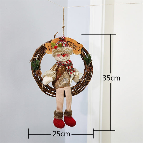 Snowman Santa Claus Elk Christmas Garland Wood  Christmas Tree Decorations  Christmas Decorations for Home gift