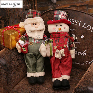 Christmas Santa Claus Snowman Doll Christmas Decorations for Home Xmas Figurine natal Tree Ornament New Year adornos de navidad
