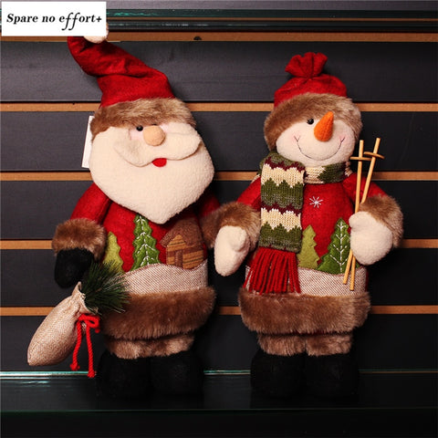 Navidad Figurine tanding Toy christmas decorations for home Birthday Party Gift adornos de navidad Santa Claus Snowman Dolls