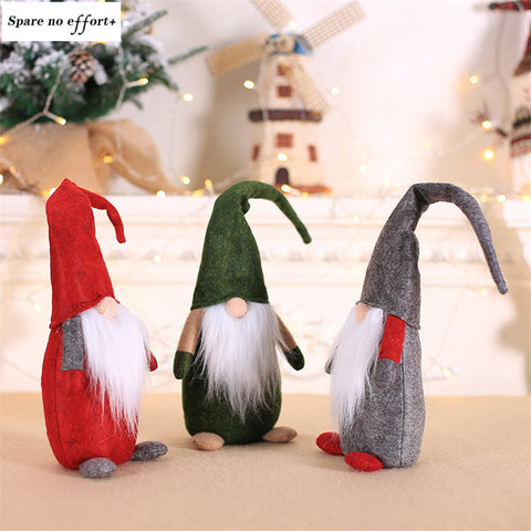 Mini Christmas Santa Claus Dolls Navidad Figurine Christmas Decorations for Home Christmas Gift For Kid New Year natal Ornament