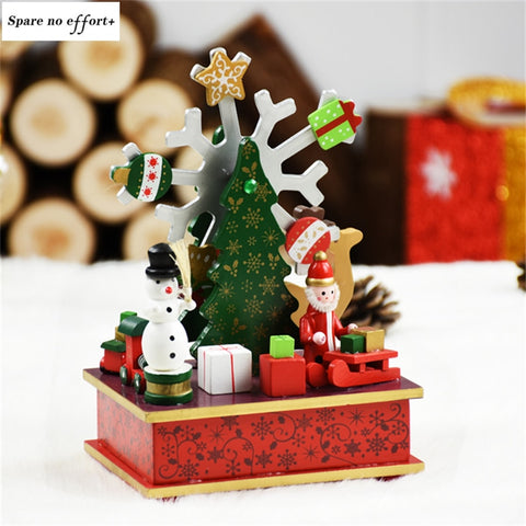Christmas music Box Christmas Decorations for Home Kid Christmas gift adornos de navidad Birthday Party Gift Merry Christmas