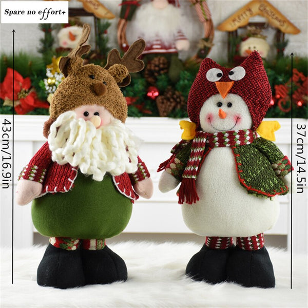 Xmas Figurines christmas decorations for home Christmas Santa Claus Snowman Doll New Year Decoration Natal Gift merry christmas