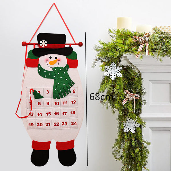Santa Claus Snowman christmas calendar Natal Advent Calendar adornos de navidad christmas decorations for home merry christmas