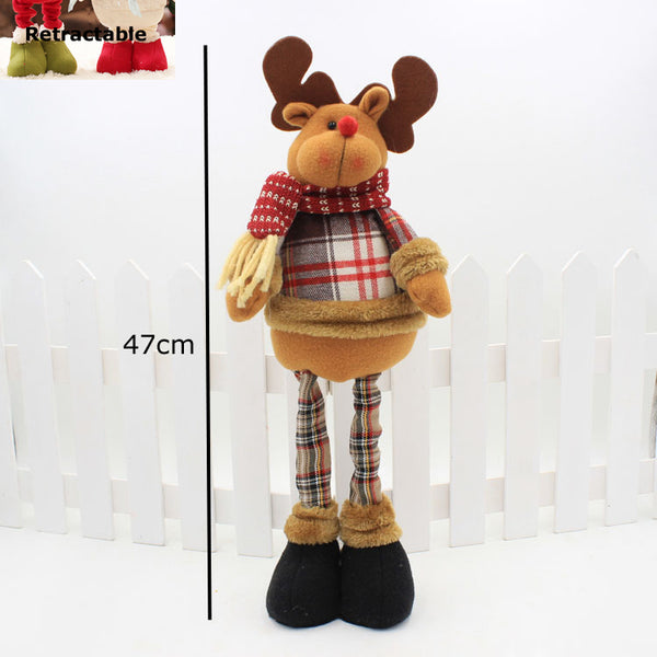Santa Claus Snowman Elk Retractable Figures Merry Christmas Ornaments Navidad Xmas New Year Gift Christmas Decorations for Home