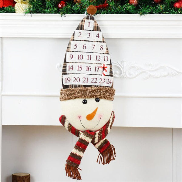 Christmas Decorations for Home Office Mall Hanging Ornaments Advent Calendar Family Birthday Calendars Xmas Decor Accessories