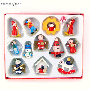 Christmas Decorations for Tree Cartoon Drop Ornaments Xmas Tree Decor Wooden Dolls New Year Gift Toy for Kid Child Friends Natal