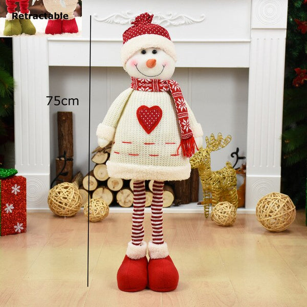 Christmas Tree Decoration Big Size Santa Claus Snowman Dolls Christmas Toys Gift Natal Standing Figurines Christmas Ornament