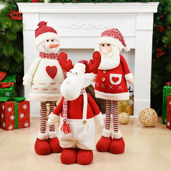 Red Christmas Girl Dolls Navidad Figurine Christmas tree Ornaments New Year Christmas Decorations for Home Natal Party Gift Kids