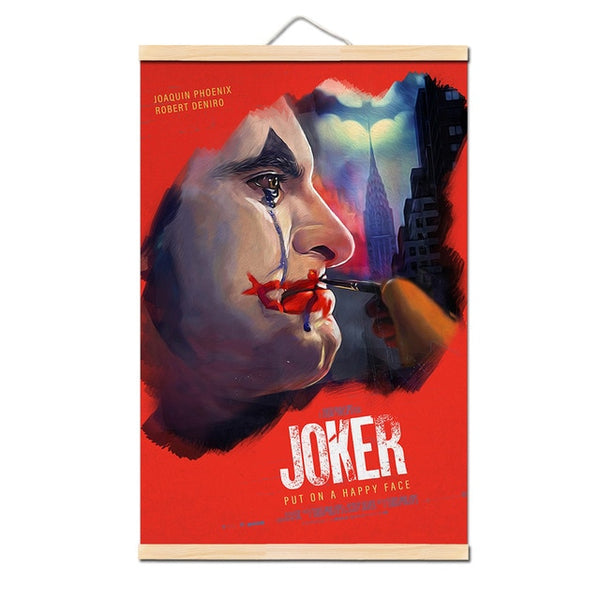 2019 New Movie Joker Canvas Poster Joker Origin Movie Art Prints Comics Wall Decor Home Pictures Batman's enemy Film Posters