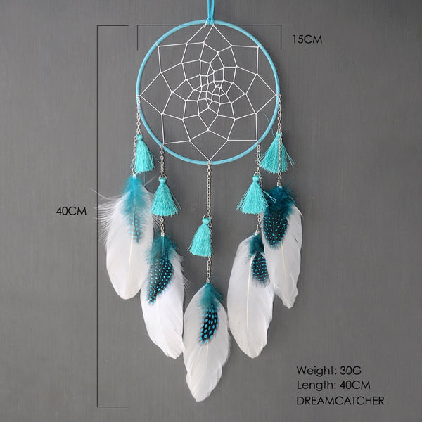white nordic dream catcher for kids baby room decoration nursery decor long dreamcatcher hanging home decoration gift for girls