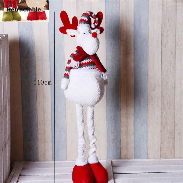Natal Retractable Standing 43-76cm Christmas Doll Christmas Decoration Large Santa Claus Snowman Elk Doll Kids New Year Gift Toy