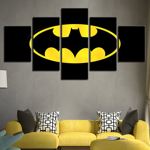 Home Decoration Modern Canvas Living Room Framework HD 5 Panel Batman Movie Printed Pictures Painting Wall Art Modular Poster