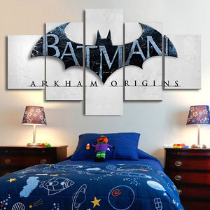 Superhero Batman Posters Modular Painting on the Wall Canvas HD Pictures Decorativos Kids Bedroom 5 Piece Wall Art Canvas Prints