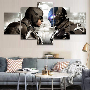 5 Pieces Canvas Painting Game Batman Arkham Knight Wall Art Poster Artwork Modern Canvas Printed Home Decor Bedroom Pictures