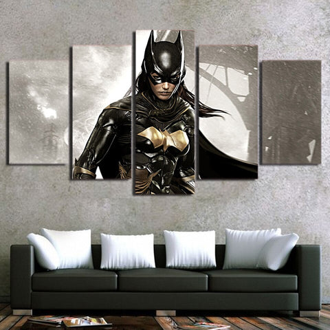 5 Piece Wall Art Canvas Painting Canvas Wall Art For HD Print Batman Film Movie Poster Canvas Painting Wall Art Home Decor