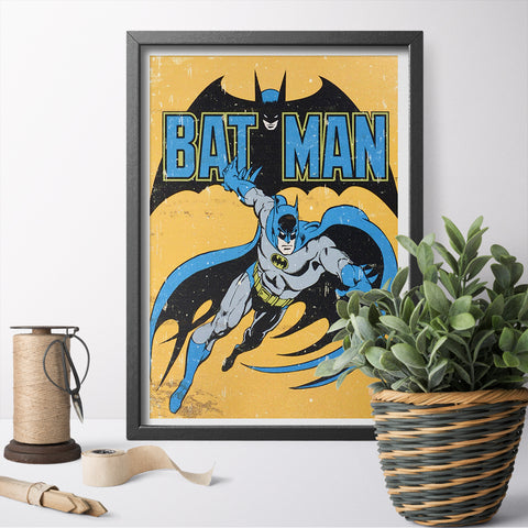 Batman Retro Sign Canvas Print Canvas Painting Poster And Prints Wall Art Posters For Home Decor No Frame