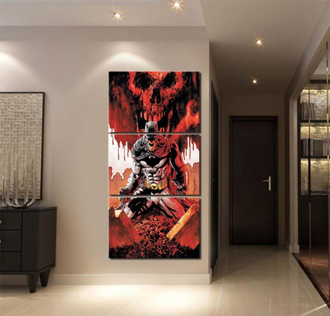 Canvas HD Print Posters 3 Piece Comics Batman Modular Picture Home Decorative Children Room Oil Painting Modern Wall Art Draw