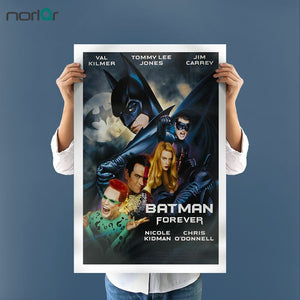 Unframed Spray Painting Printed Movie Picture Cool Batman Canvas Wall Decor for Living Room Canvas Art print poster