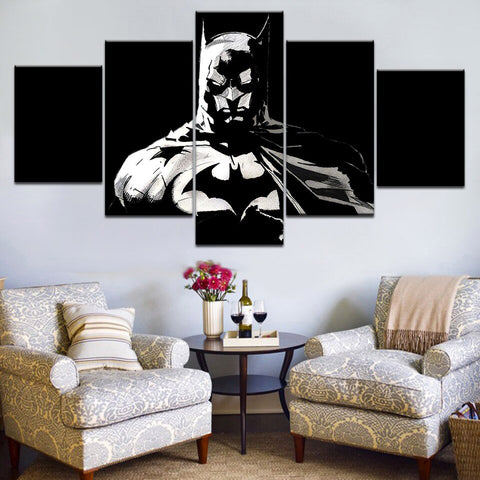 5 Pieces Batman Movie Poster Wall Art Picture Modern Home Decoration Living Room Or Bedroom Canvas Print Painting Wall Picture