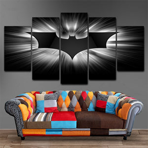 Modern HD Printed Poster FrameworkMovie Modular Painting Canvas Wall Art Pictures Home Decoration 5 Pieces Batman Dark Knight
