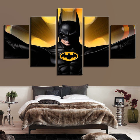 Canvas Home Decor HD Printed Paintings Modular 5 Panel Movie Batman Character Posters Tableau Wall Art Modern Pictures Frame
