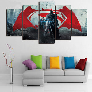 Canvas Painting Wall Art Modern Batman and Superman Movie Character HD Print Poster Painting On Canvas Room Decoration Artwork