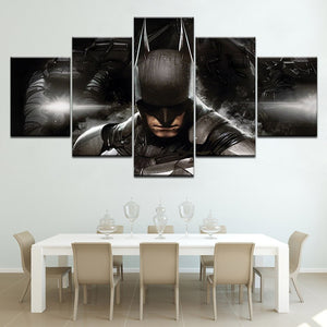 The Batman free shipping 5 Panels HD Print Wall Art modern Modular Poster art Canvas painting for Living Room Home Decor