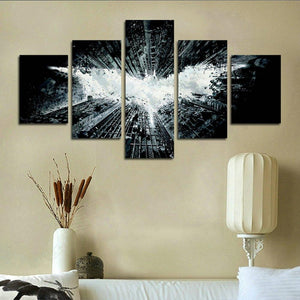 5 Panel Canvas Wall Art Batman Print Poster Modern Home Decoration Paintings of Living Room Canvas Wall Art Poster