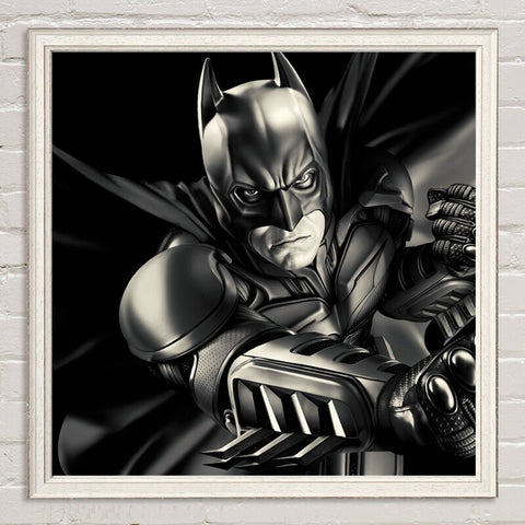 Batman Hero Canvas Painting Oil Print Poster Wall Art Picture for Living Room Bedroom Kids Home Decoration Comics Boy Children