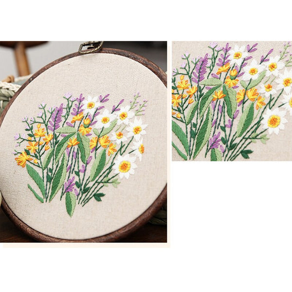 Cross Stitch Materials Package Plant Collections Handcraft Embroidery Needlework Kits
