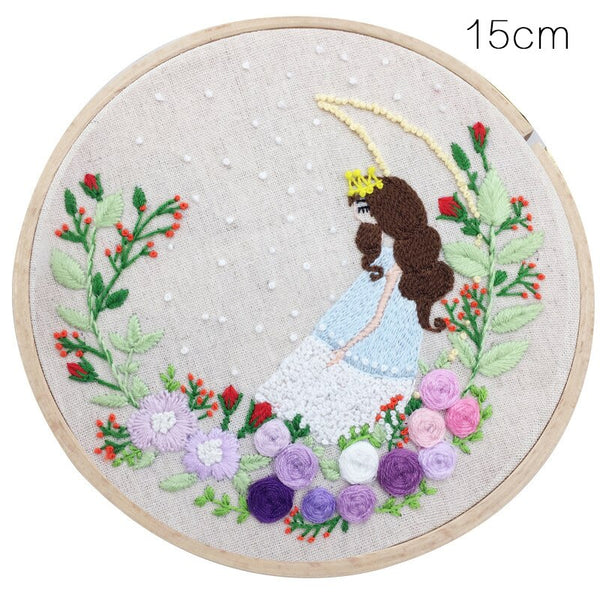 Princess Patterns Embroidery Material Package Handmade Cross Stitch For Beginner