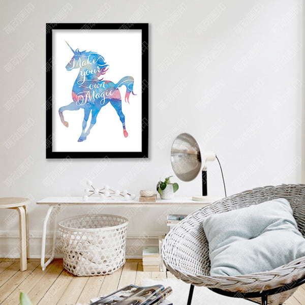 Cuadros Unicorn Nordic Poster Wall Pictures For Living Room Posters And Prints Wall Art Canvas Painting Animal Kid Room Unframed