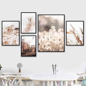 Farm Plant Flower Leaves Wheat Landscape Wall Art Canvas Painting Nordic Posters And Prints Wall Pictures For Living Room Decor