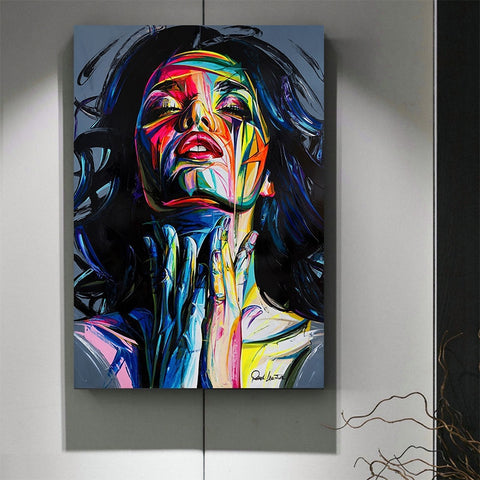 Colorful Woman Abstract Canvas Painting Printing Poster Pictures Wall Art Bedroom Living Room Home Decoration
