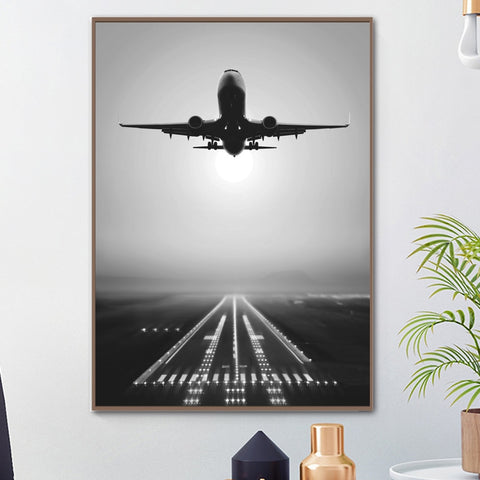 Canvas Nordic Pictures Home Decoration Plane Take Off Paintings Wall Art HD Prints Creative Hotel Poster Modular For Living Room