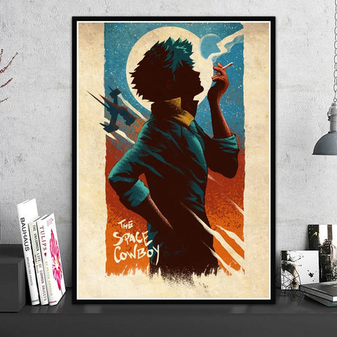 Canvas HD Print Cowboy Bebop Anime Poster Wall Art Modern Home Decoration Painting Modular Picture Artwork For Living Room Frame