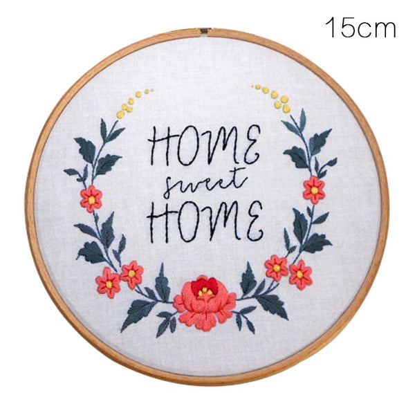 Embroidery Materials Package Flowers Patterns DIY Cross Stitch Kits Handmade Crafts Sewing