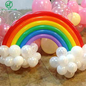 25 Pcs DIY Magic Ball Christmas Birthday Decor Rainbow Band Balloon Set